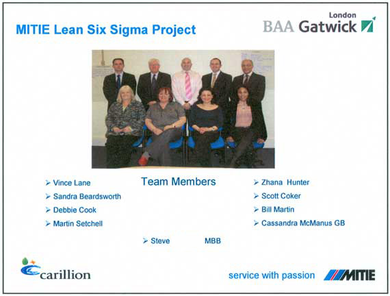 SRM Lean Six Sigma Process Re-engineering Project Team Task Force